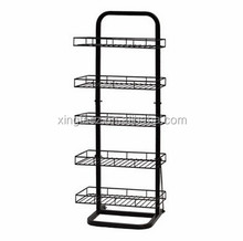 Factory Direct Free Standing Metal Wire Display Stand/ 5-tier Collapsible Display Racks
