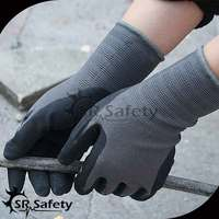SRSAFETY 13G Nitrile Foam Gloves/ Foam Gloves/Foam Nitrile Work Gloves