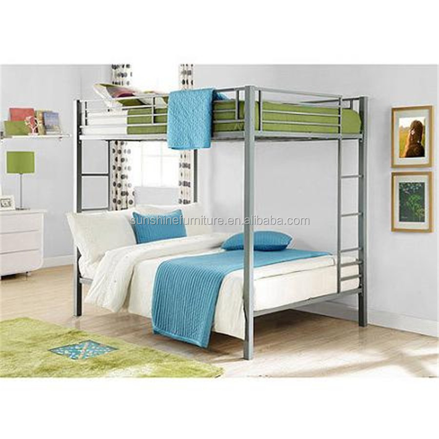Children Adult Bedroom Furniture Full Size Twin Size Metal Bed Base Bunk Bed In Black Buy Bunk