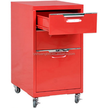 Factory direct price mobile metal file cabinet 3 drawers mobile cabinet home/office furniture
