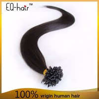 Hot Selling 100% Virgin Keratin U Tip Hair,loop hair prebonded u tip keratin hair extensions