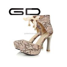 snakeskin fashionable girls high heel shoes women pumps