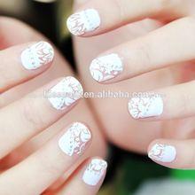 kisscolo etiqueta 20pcs uñas de diamante