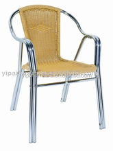 Aluminum double tube PE Rattan chair outdoor furniture chair