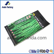 Three side sealed seed bags/ back sealed aluminum foil bags for seed packing