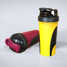 600ml wholesale sport plastic protein shaker bottle,bpa free shaker bottle with blender ball