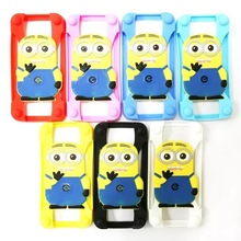 New design cartoon silicone universal phone case frame bumper for all phone