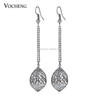 Wholesale 10pcs/lot NOT FADE ! Women Jewelry Inlay Crystal Dangle Earring (Ve-305*10) Vocheng Jewelry