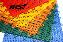 Modified Polypropylene badminton court mat, interlocking outdoor badminton flooring