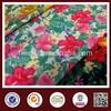 China 100 polyester satin print fabric flower design printing fabric
