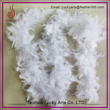 Christmas Ornaments White Fluffy Turkey Feather Garland Boa