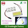 auto led dome light cob 21 smd car reading light auto part festoon T10 BA9S Adapter cob