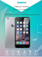 full cover high clear tempered glass screen protector for iphone 6/ iphone6 plus 9H hardness 2.5 D 0.3mm