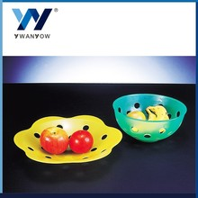 Taiwan online shopping plastic fruit plate easel and drain plastic plate