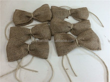 New 6 Rustic Burlap Bows Wedding Fall Christmas Napkin Favor Tags/Napkin Rings
