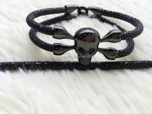 2015 Fashion Skull New Design stingray mens Custom cicret smart bracelet