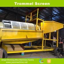 Alluvial sediment gold concentrate portable trommel screen wash machine