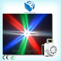 2015 New product in china market unlimited rotate moving head flower gobo spot spider effect 8 pcs 3w mini beam led dj light