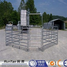 ISO9001 anping factory high quality galvanized Hot dip galvanised corral run fencing yard 6ft portable horse run panels