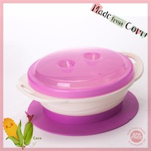 Microwave Safe Made From Corn Baby Travel Bowl with Lid