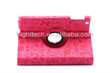 Lovely Sweet Magic Girl Leather Stand Cover Case For iPad Mini