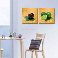2 Panel Beautiful Modern Home Wall Decor Canvas Print Painting Fruit Large HD Wall Picture For Kitchen Decorate Unframed