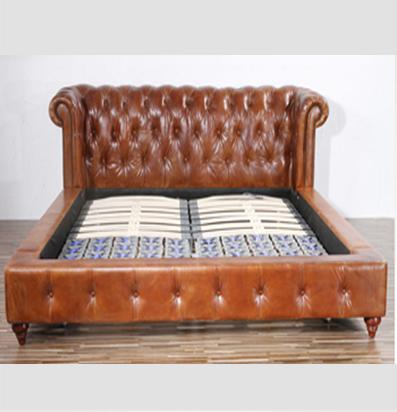 Antigo de couro chesterfield sof cama camas id do produto - Sofa cama chesterfield ...