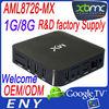 EM6 Amlogic MX Cortext A9 OEM vga output android tv box
