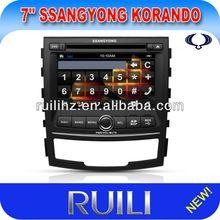 7 inch GPS Car DVD Player BT Audio Radio TV Ipod for SsanngYongKorando