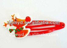 Festive red Sika Deer soft pvc hair clips for Christmas gifts