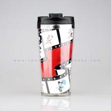 Starbucks Double Wall Stainless Steel Paper Photo insert Coffee Mug Travel Mug