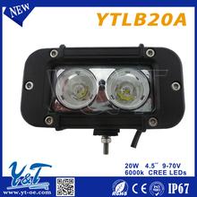 Split Visor 2 LED Emergency Warning Strobe Light Mount Deck Windshield LED Lamp Bar