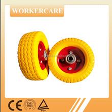 Small orange pu wheels 6X2 for hand truck and wheelbarrow