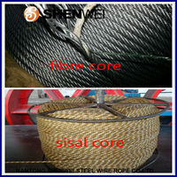 galvanized 6*37+FC steel wire rope , steel cable price