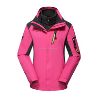 New Design Soft Shell Jacket Outdoor for women with hood 88012