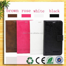 Wallet Bag Flip Cover Stand Design Leather Case, Mobile Phone With Card Holder