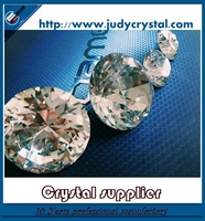 wholesale glass button Clear Crystal Glass Buttons With Prongs For Furtiture Decoration