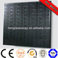 Black back, frame 190W solar panel, PV module, mono crystalline, BIPV