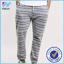 Yihao High Quality Mens Loose Fit Striped Jogger Pants Custom Design Gym Casual Wear Long Sweatpants