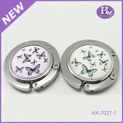 HX-7027 Premium Design Butterfly Clip Purse Hanger Bag Purse Hanger Hooks