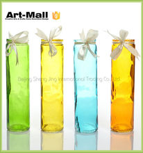 2015 new products high quality lead free cylindrical pyrex clear glass vase square
