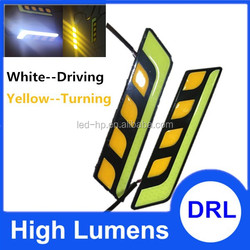 LED DRL DAYTIME RUNNING FOG LIGHTS WITH AMBER TURN FUNCTION HIGH POWER FOR CAR