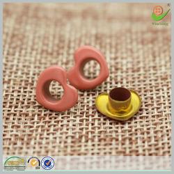 Heart shape bulk garment brass eyelet for handbags