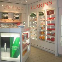 Hot sale acrylic chanel display cosmetic