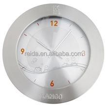 2015 hot selling new design round aluminum metal wall clock