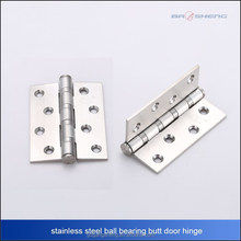 stainless steel 201 ball bearing flat butt door hinge