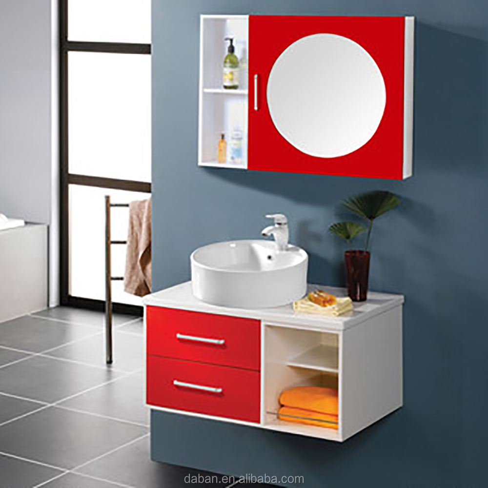 Waterproof Wood Bathroom Cabinet Vanity India Style In Small/big Bathroom_e0,E1 Plywood Plate