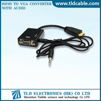 HDMI to VGA Adapter with Audio for AirPlay and Apple TV monitor