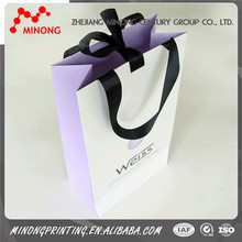 China factory customed luxury paper shopping bag