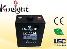 2V 150AH deep cycle battery solar power for wind generator
